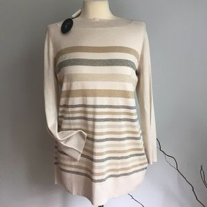 NWT Cuoio stripped sweater